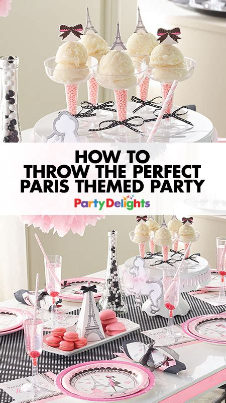 plan  perfect paris themed party baby tables