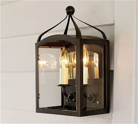 outdoor sconce bronze finish traditional wall