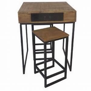 Table Bar Industriel : table de bar industrielle ~ Teatrodelosmanantiales.com Idées de Décoration