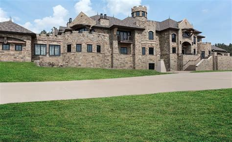 square foot stone mega mansion  billings montana homes   rich