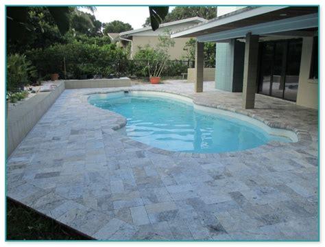 travertine pavers  pool deck