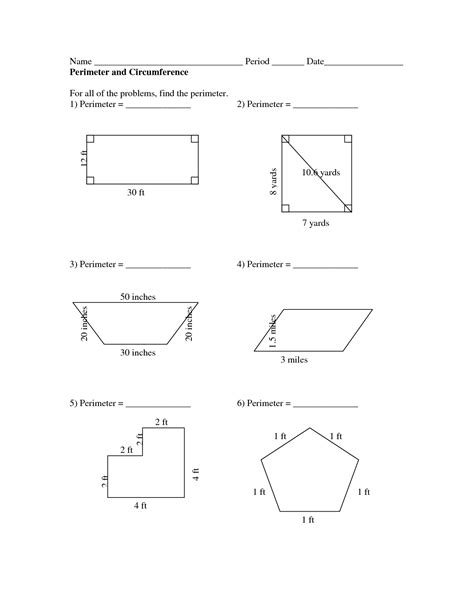 10 best images of calculating area and perimeter
