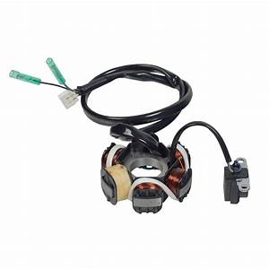 6 Coil Magneto Stator With 3 2 Wiring Connector For 50cc