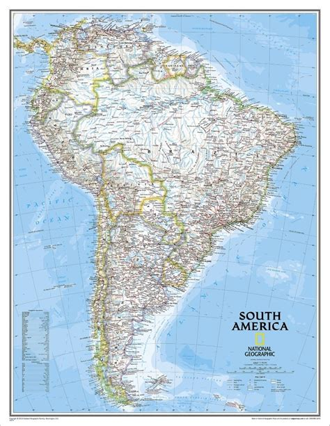 Themapstore  National Geographic South America Wall Map