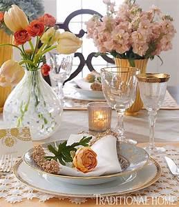 Elegant Spring Breakfast Traditional Home