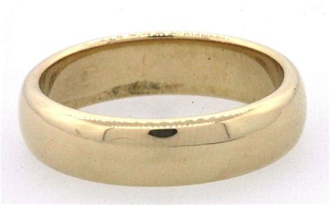 co heavy 18k gold comfort fit men s wedding band ring size 11 75 ebay