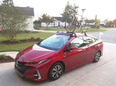 2017 Toyota Prius Prime (hypersonic Red) With Bicycle On