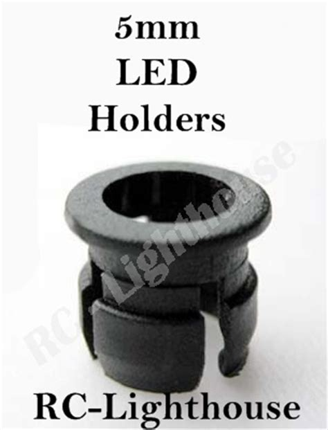 replacement 5mm led plastic holder 10pc rc lighthouse