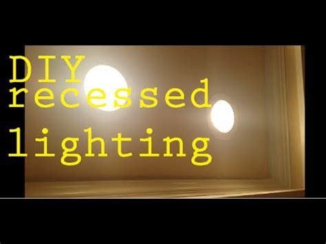 diy how to install led recessed lighting kitchen living