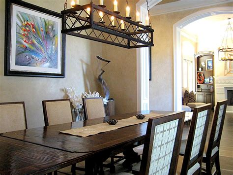 Rustic Dining Room Lighting, Rectangular Ceiling Lights