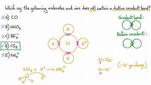 Video  Identifying Dative Covalent Bonds