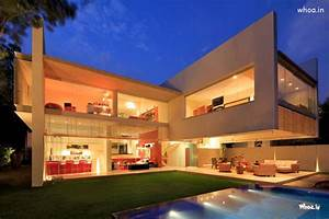 White, Cantilever, Lighting, Amazing, Modern, House, Hd, Wallpaper