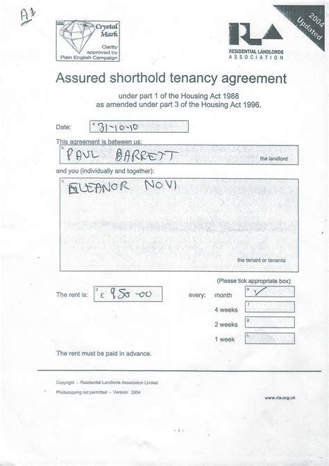 short assured tenancy agreement scotland template