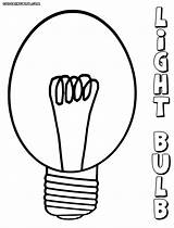 Bulb Coloring Pages Clipart Lightbulb sketch template