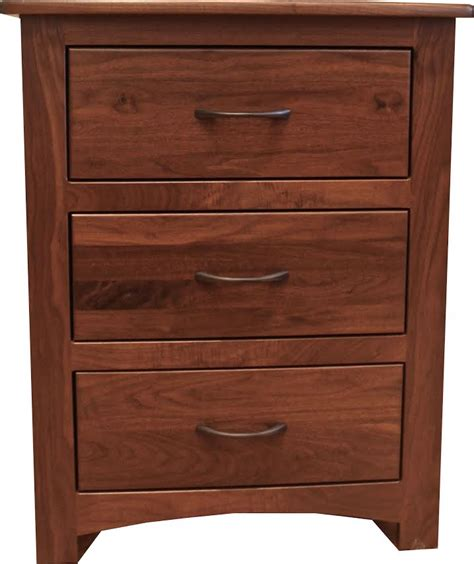 Curved Nightstand by Curved Shaker 3 Drawer Nightstand This Oak House