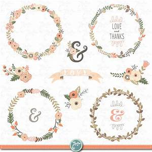 wreath clip art quotwedding flower wreathquot clipartvintage With wedding invitation flower clipart free