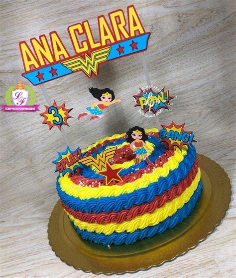topo de bolo mulher maravilha no elo7 lf scrap festa personalizados e50828
