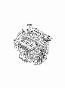 2011 Kia Sedona Sub Engine Assy