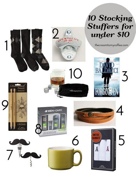 Men's Stocking Stuffers (under $10) & A Giveaway from Coupons.com!   The Cream to My Coffee