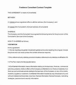 12 consultant contract templates free word pdf With freelance marketing contract template