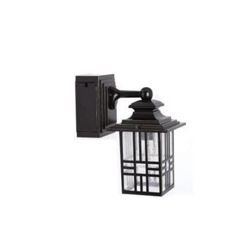 hton bay mission style exterior wall lantern with built