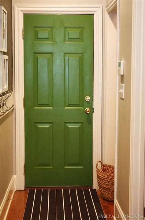 sherwin williams paradise paint inside of door between garage and kitchen modern homes