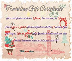 travel gift certificate templates 9 free word pdf psd With vacation certificate template