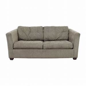 Bauhaus sofas 72 off bauhaus microfiber tan oversized for Bauhaus sofa bed