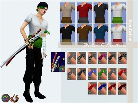 studio  creation zoro outfit sims  downloads