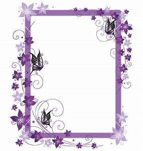Purple Flower Borders and Frames | Purple frame flowers ...