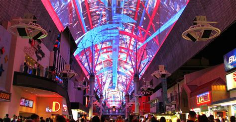 old las vegas light show viva vision light show fremont street experience