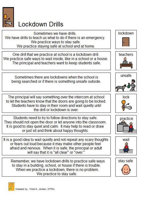 lockdown drill narrative social stories school safety 549 | a62effdd93e80c315081a6795e32011a
