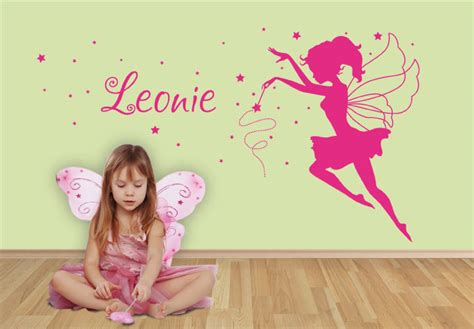 Wandtattoo Fee Mit Namen by Wandtattoo Mit Name F 252 R Kinderzimmer Kleine Fee Wall