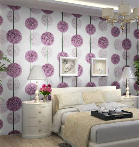 Grey And Purple Living Room Wallpaper by Aliexpress Buy Purple Flower 3d Wallpaper Modern Pvc