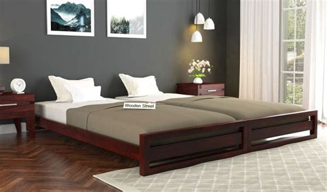 buy darley stackable bed mahogany finish   india