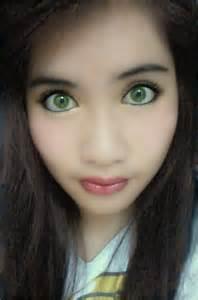 Dark Brown Hair with Green Eyes