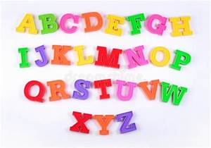 colorful plastic alphabet letters on a white stock image With acrylic alphabet letters