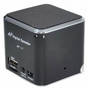 China Micro SD Card/TF Square Mini Speaker (AF-15) - China ...