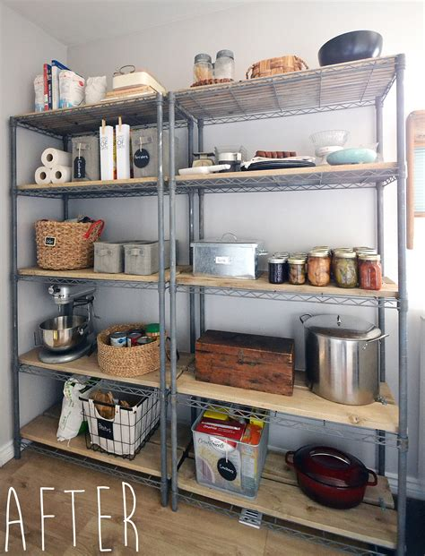 crux   give pantry shelving easy rustic charm