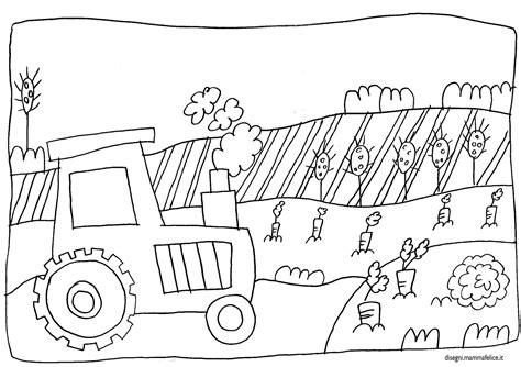 disegno da colorare trattore  fattoria disegni