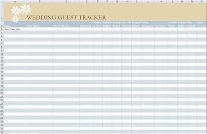Guest Template Excel Spreadsheet Templates Invitation Tracker