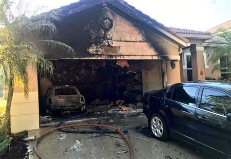 weston house fire damages  cars   home