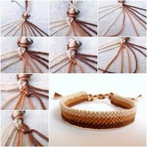 How To Make Easy Weave Bracelet Step By Step Diy Tutorial