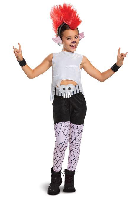 trolls world  girls deluxe barb costume