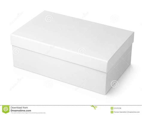 boite a chaussure bo 238 te 224 chaussures blanche sur le blanc photo stock