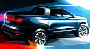 New VW Compact Pickup Concept Teased, Previews 2020