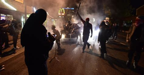 portland trump protest riot rioters anti protesters destruction oregon night meme streets protests peaceful march citywide anarchists declared right cnn