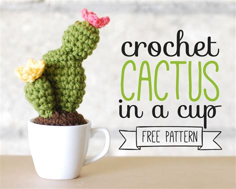 How To Christmas Decorate Your Room by Crochet Cactus In A Cup Free Pattern Paper And Landscapes