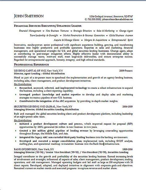 financial executive resume exle