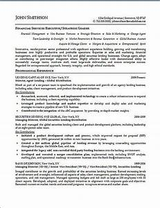 financial executive resume example With finance executive resume
